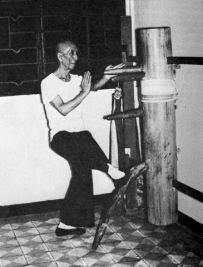 Ip Man au mannequin de bois